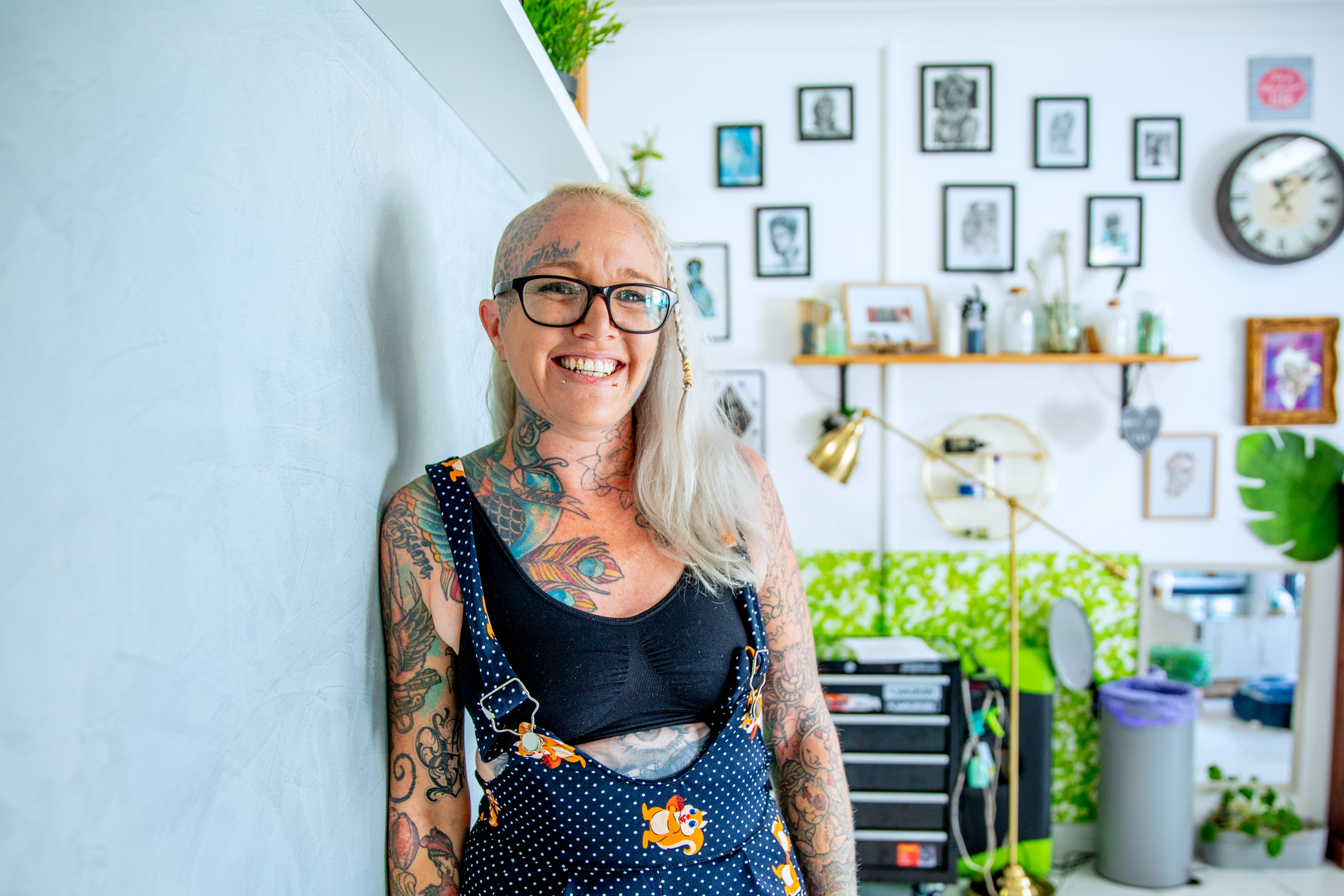 Two Australian women show a day in the life of a tattoo artist. Dancing, designing, tattooing and communicating and creating in a suburban tattoo shop.