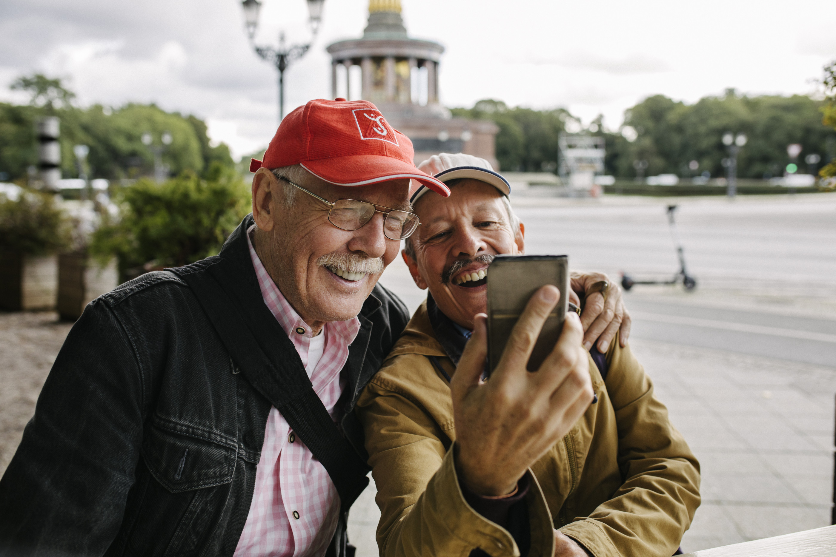 Mature Gay Couple Taking Selfie Together