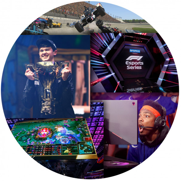 Collage of eSports imagery